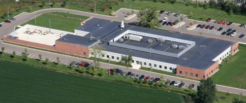 Aerial photo of GLERL facility at 4840 S. State Rd., Ann Arbor, MI. August 2010.